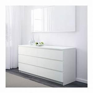 Commode Grise Ikea : malm commode 6 tiroirs blanc ikea salneuve ideas pinterest commode 6 tiroirs malm et ~ Melissatoandfro.com Idées de Décoration