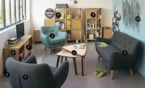Alinea Meuble Salon : le salon vintage poppy chez alin a ~ Teatrodelosmanantiales.com Idées de Décoration