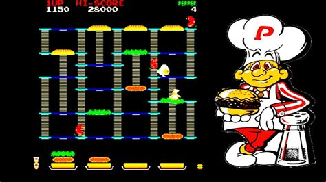 Nes Gameplay 1 Burger Time Youtube