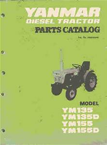 Yanmar Tractor Ym135 Ym135d Ym155 Ym155d Parts Manual