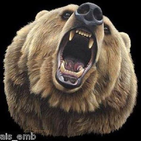 details  grizzly bear bite heat press transfer