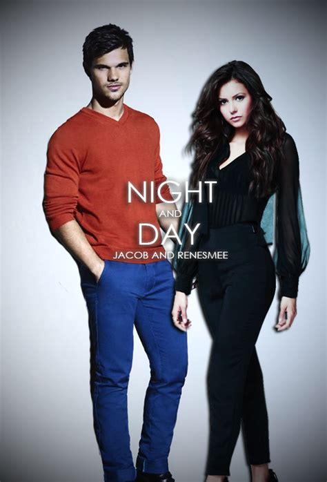 Taylor Lautner and Nina Dobrev as Jacob Black and Renesmee ...