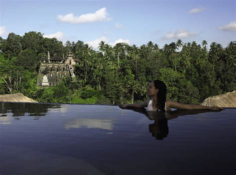 Hanging Infinity Pools In Bali At Ubud Hotel And Resort