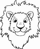 Coloring Lion Printable Animal Lions Face Sheet Labels sketch template