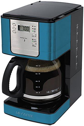 It features a delay brew option, so you can set brewing ahead of time and wake up to fresh brewed, delicious coffee. Mr. Coffee 12 Cup Blue Programmable Coffeemaker Blue | Appliances Store
