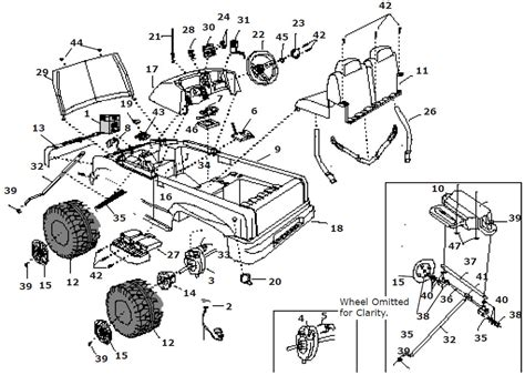 Power Wheels Chevy Truck Parts