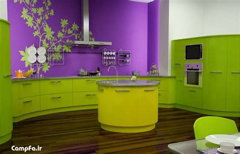 lemon green kitchen دکوراسیون آشپزخانه و طرح های جدید از مدل کابینت 3717
