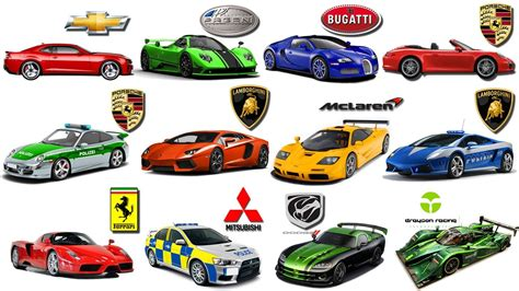 Sports Car Brands>> Learn Brand Of Cars For Kids Sports