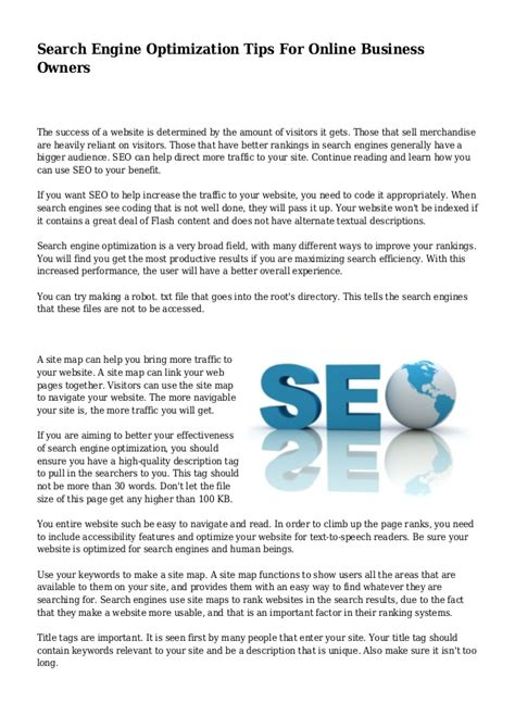 search engine optimisation strategies search engine optimization tips for business owners