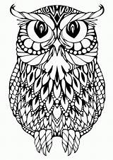 Coloring Pages Skull Sugar Owl Popular sketch template