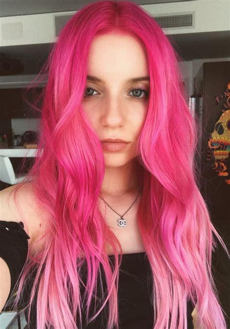 Pinterest Deborahpraha ♥️ Bright Pink Hair Color Pink