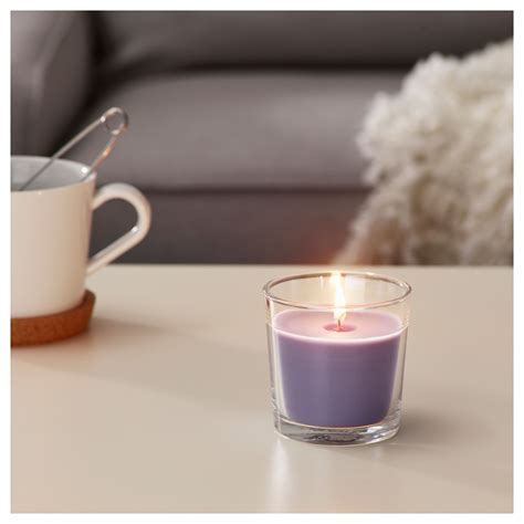 Ikea Candele by Ikea Sinnlig Scented Candle In Glass Blackberry Lilac