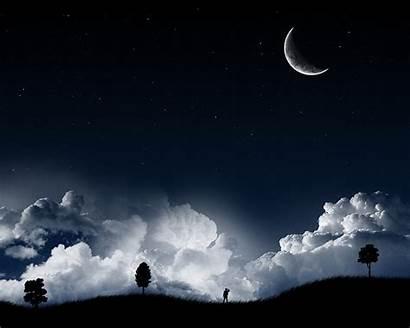 Night Sky Background Wallpapers Desktop Posted Dark