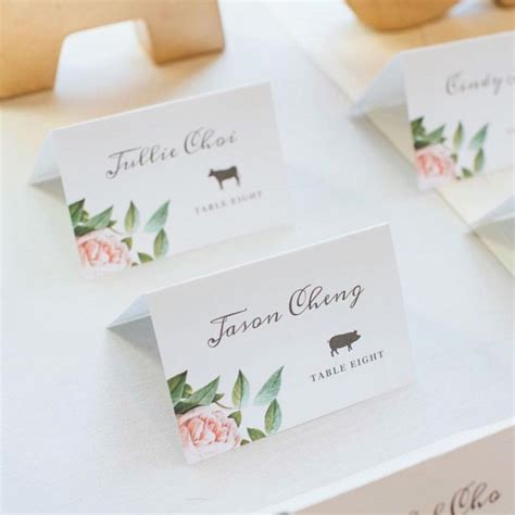 wedding table setting cards templates 87 best everly compatible printable wedding templates