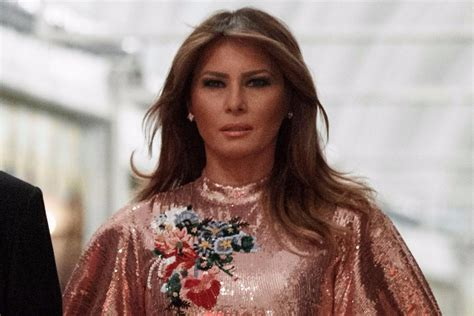 Melania Sparkles In A 5 5k New Years Dress