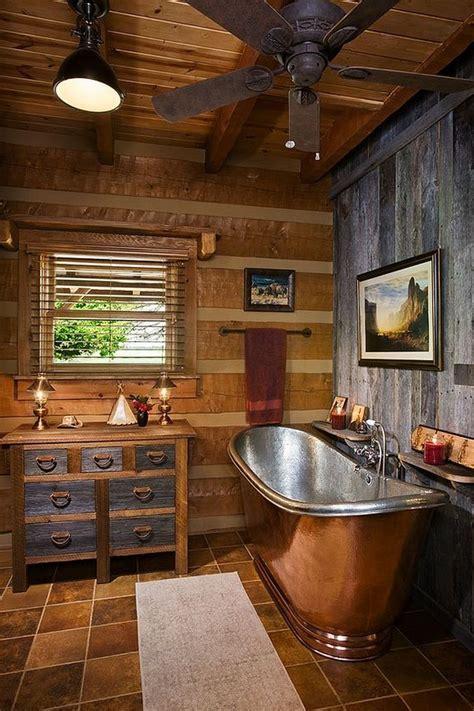 amazing log house bathrooms