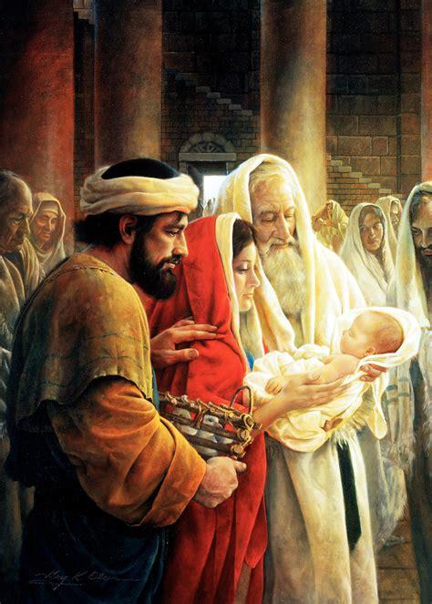 simeon reverencing  christ child