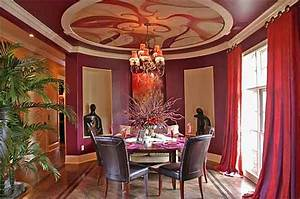 Bold Dining Room I Had This Amazing Ceiling Painted In