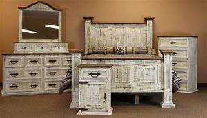 Dallas designer furniture white washed rustic bedroom set for White washed bedroom furniture