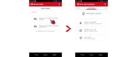 numero appel sfr comment se prot 233 ger des spams avec l application sfr anti spam