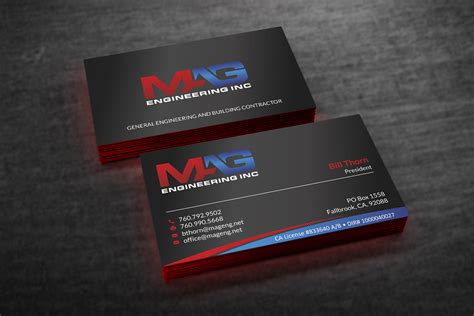 Business Cards For Mag Engineering Inc Business Letter Template Requesting Information Logo Badge Resolution Card Dimensions With Bleed Valuation Engagement Jet Design Near Me Indesign