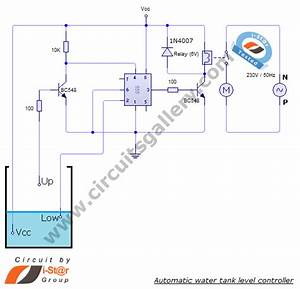 Simple Automatic Water Level Controller Circuit Diagram