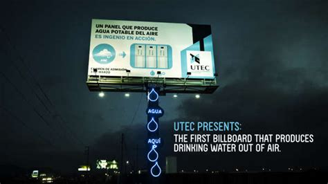 water creating billboards eco friendly advertising