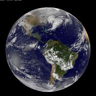 Satellite View Earth From Space