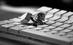 star wars stormtrooper keyboard black and white lego ...