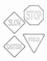 Coloring Road Signs Printable Stop Sheets Traffic Sheet Colouring Drawing Keep Door Getcolorings Daycare Week Getdrawings Printablee sketch template