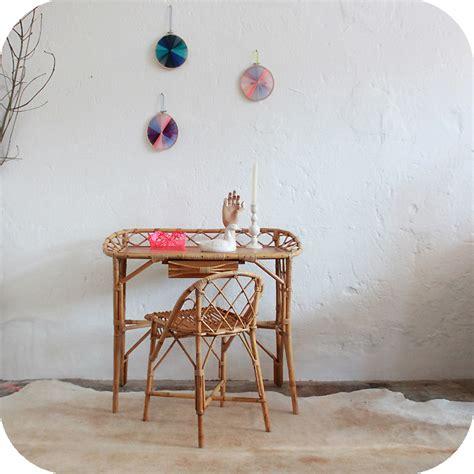 bureau rotin mobilier vintage bureau rotin ées 50 atelier du