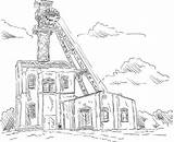 Coal Mine Clip Elevator Hoofddeksels Kolen Toren Mijn Tower Illustrations Mijne Dibujo Mina Depositphotos Similar Illustraties Rechtenvrije Stockvectors sketch template