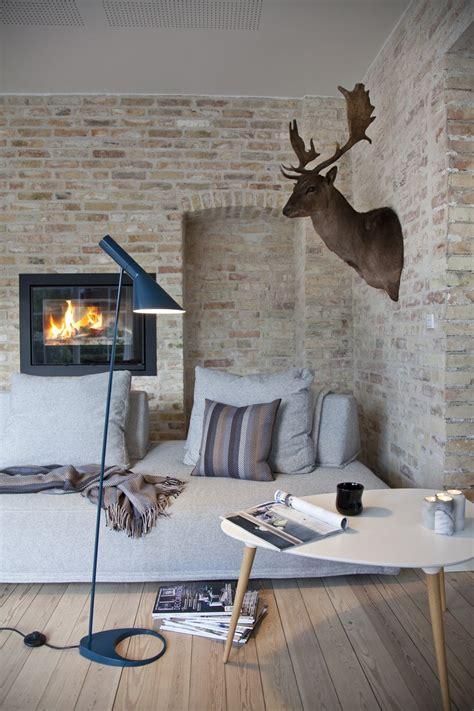 deco mur en salon mur pierres deco scandinave picslovin