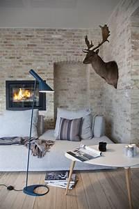 salon mur pierres deco scandinave With deco salon mur pierre
