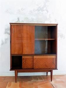 Vitrine En Bois : meuble vitrine buffet vintage en bois vernis marqueterie et dorure design carpentry ~ Teatrodelosmanantiales.com Idées de Décoration