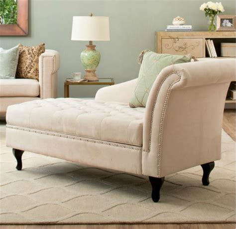 traditional storage chaise lounge  luxurious lounger