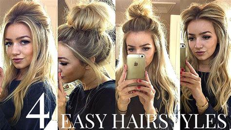easy hair styles for school 4 easy heatless school hairstyles 3608