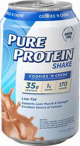 Pure Protein Shake  Cookies  U0026 Cream  35g Protein  11 Fl Oz