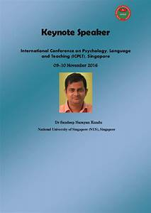 Keynote speaker of november 2016, singapore language1