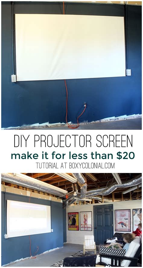 diy projector screen       craft