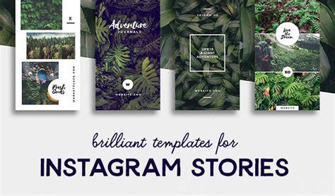 brilliant instagram story templates  brands