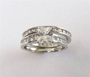cz engagement set rhodium plated cz wedding rings sizes 7 With rhodium wedding rings