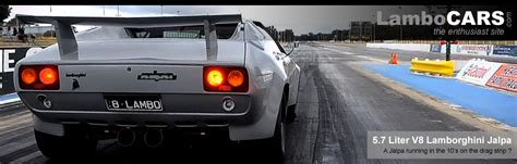 lamborghini jalpa  ls engine   drag strip