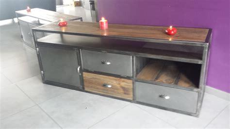 meuble de cuisine vintage mobilier industriel vintage pas cher meuble tv industriel
