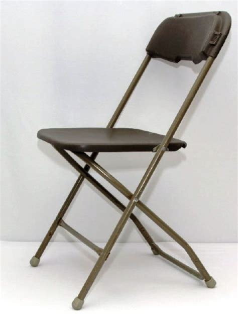 chair folding plastic brown rentals philadelphia pa where