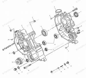 Polaris Atv 2001 Oem Parts Diagram For Crankcase A01ch50eb