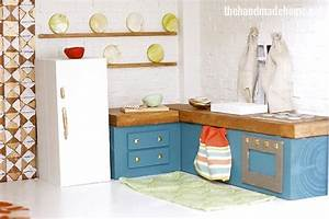 how to make a dollhouse kitchen - the handmade home