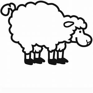 Kostenlose Malvorlage Tiere Schaf Zum Ausmalen