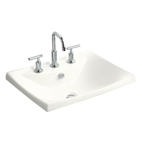 kohler porcelain kitchen sink kohler escale drop in ceramic bathroom sink in white with 6698