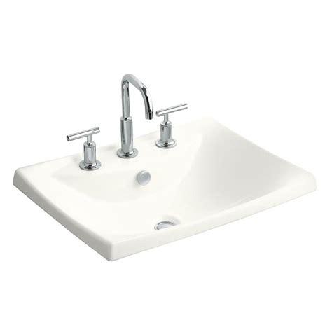 Kohler Escale Dropin Ceramic Bathroom Sink In White With